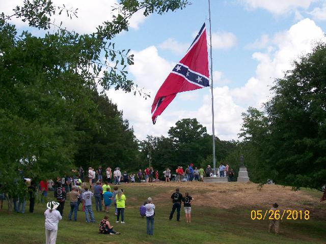 Giant Confederate Battle Flag goes up somewhere in America in response to the Battle flag and monument haters and the perpetually offended in America
